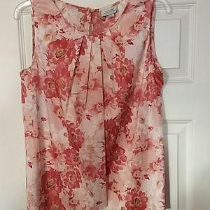 Tahari floral blouse M